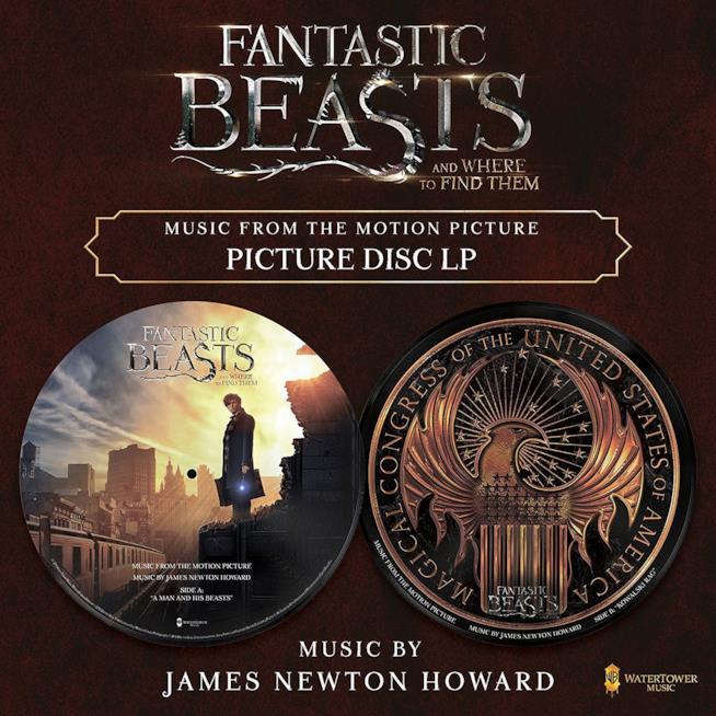 Vinile della Soundtrack di Animali Fantastici e Dove Trovarli