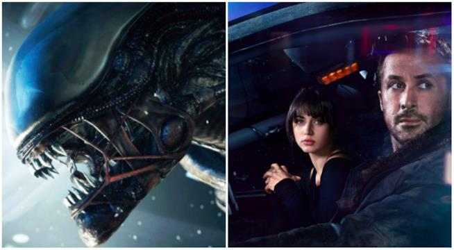 Un collage tra Blade Runner e Alien