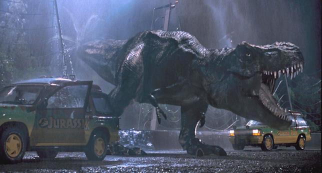 La famosa T-Rex del film Jurassic Park del 1993