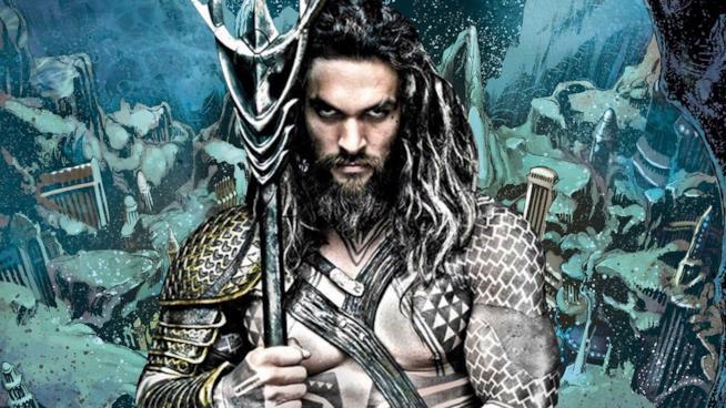Jason Momoa in un'immagine promozionale del film Aquaman