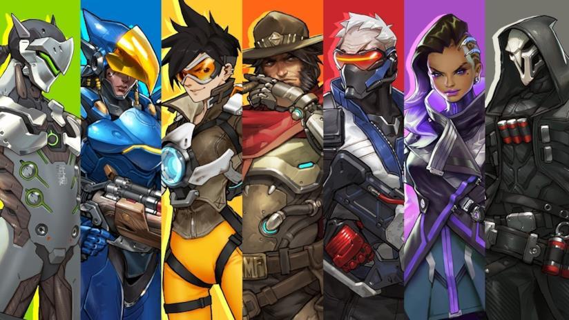 Alcuni protagonisti di Overwatch in un concept art