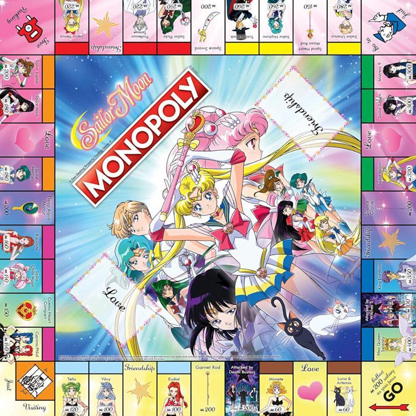 Il tabellone del Monopoly edizione Sailor Moon