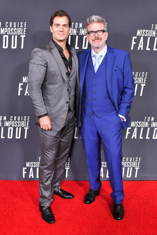Henry Cavill e Christopher McQuarrie alla première mondiale di Mission: Impossible - Fallout