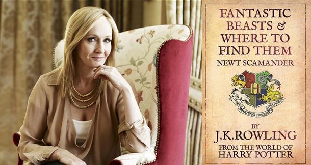 J.K. Rowling assieme alla copertina inglese del libro