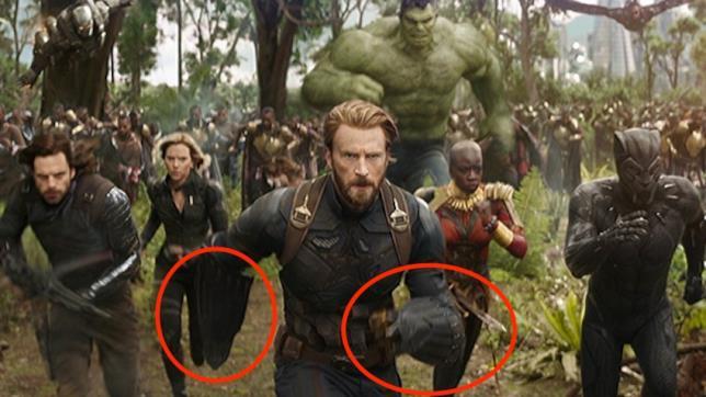 Un dettaglio del trailer di Infinity war