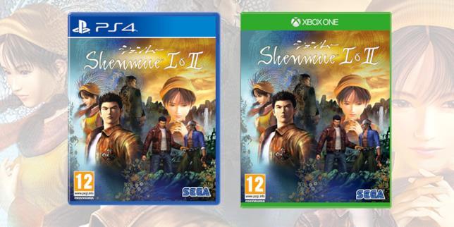 Le boxart di Shenmue I & II nell'edizione retail per console