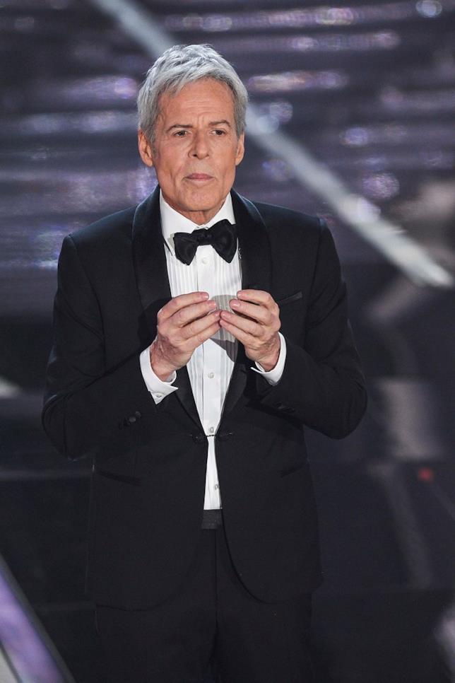 Claudio Baglioni durante il Festival di Sanremo 2018