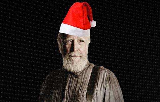 Hershel Green in versione Babbo Natale