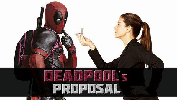 Deadpool e Sandra Bullock nella locandina parodiata di Ricatto d'amore