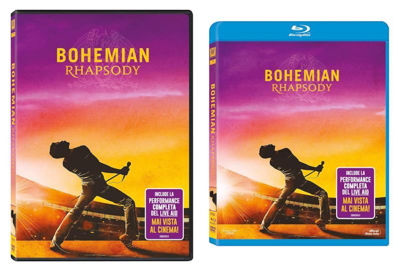 Copertina del DVD e del Blu-ray di Bohemian Rhapsody