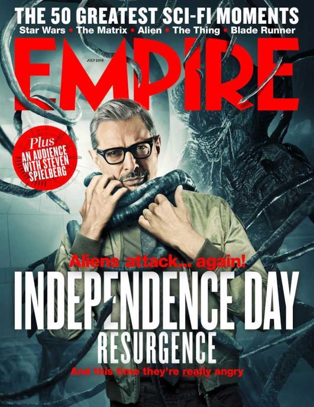 David Levinson e un alieno annunciano il loro ritorno sulla copertina di Empire Magazine