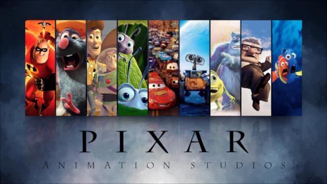 Il logo Pixar con alcuni dei personaggi principali