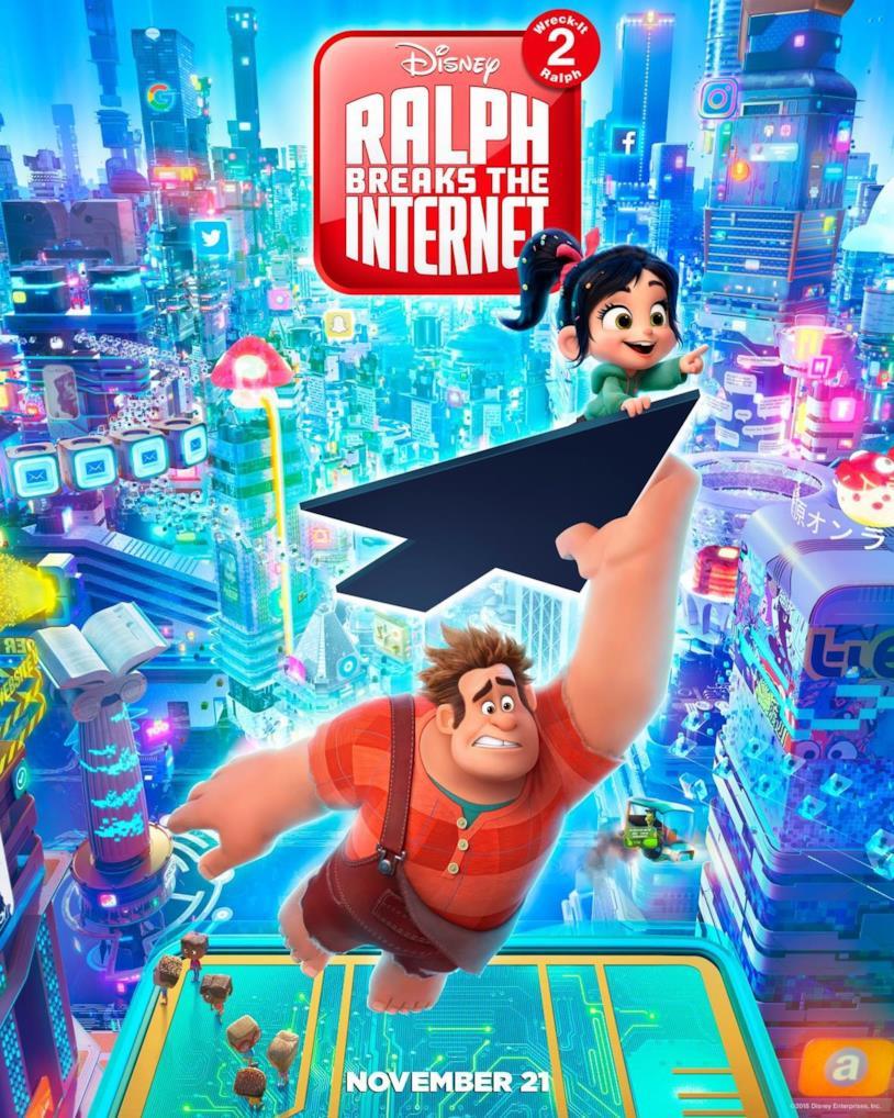 Poster di Ralph spacca internet con Ralph aggrappato alla freccia del mouse