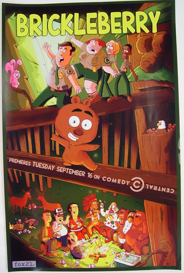 Uno dei poster di Brickleberry, la serie in onda su FOX Animation