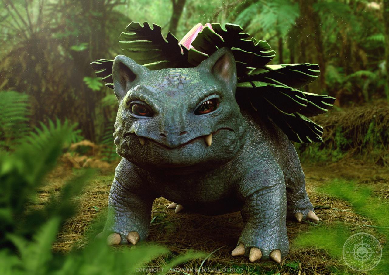 Ivysaur nel mondo reale così come immaginato da Joshua Dunlop
