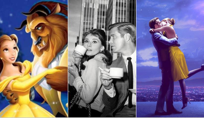 Collage tra La Bella e la Bestia, Colazione da Tiffany, La La Land