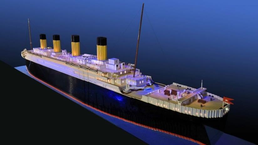56mila mattoncini LEGO utilizzati per la costruzione del Titanic
