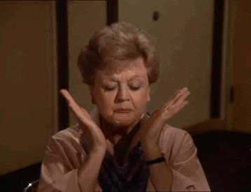 Angela Lansbury nei panni di Jessica Fletcher