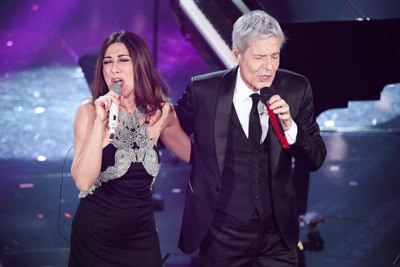 Virginia Raffaele e Claudio Baglioni a Sanremo 2018