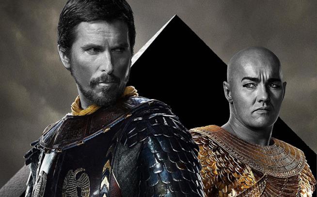 Christian Bale e Joel Edgerton in Exodus