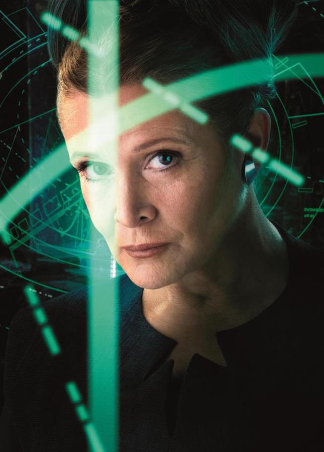 Carrie Fisher in Star Wars: Gli Ultimi Jedi