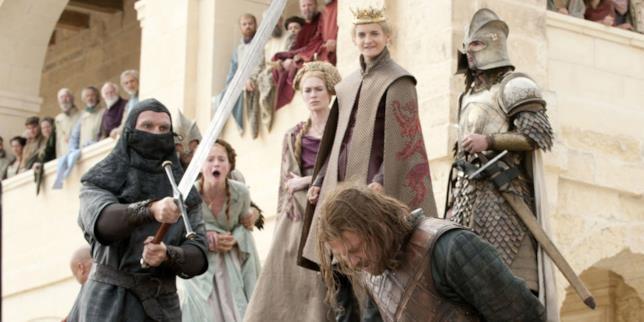 Game of Thrones: un'immagine dalla scena della morte di Ned Stark