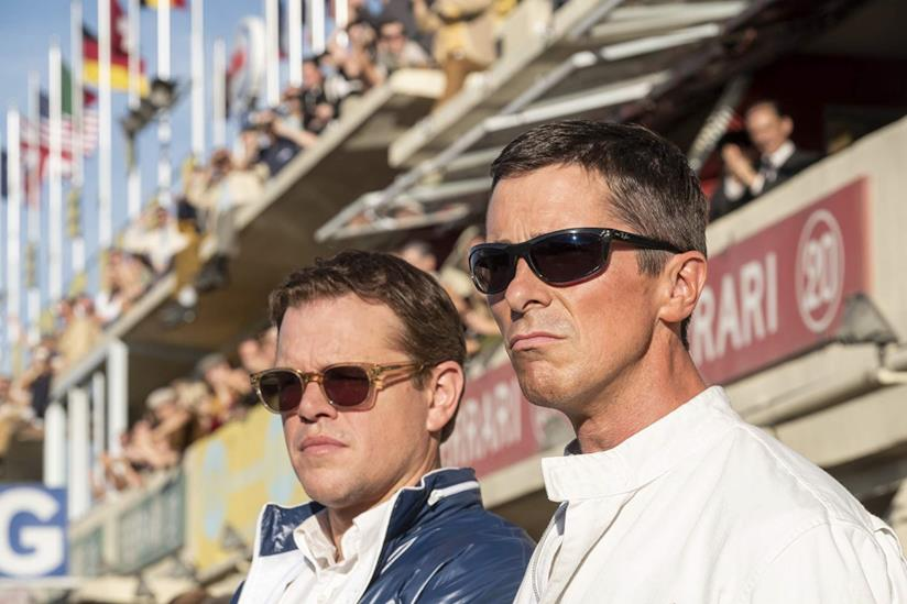 Matt Damon e Christian Bale in una scena del film Ford v Ferrari