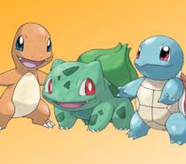 I tre Pokémon Starter di prima generazione