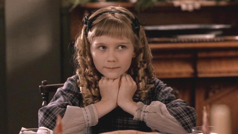a5eff5b445b6 Kirsten nel ruolo di Amy in Piccole Donne. Kirsten da bambina