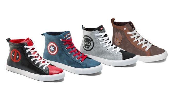 Quattro nuovi modelli di sneakers Marvel in vendita su ThinkGeek