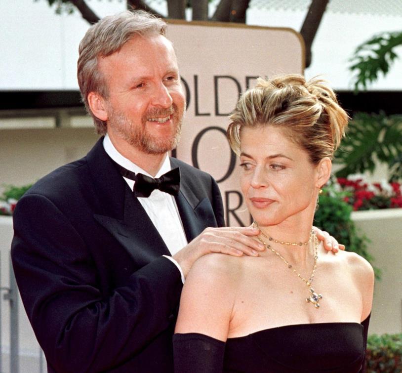 Linda Hamilton insieme a James Cameron