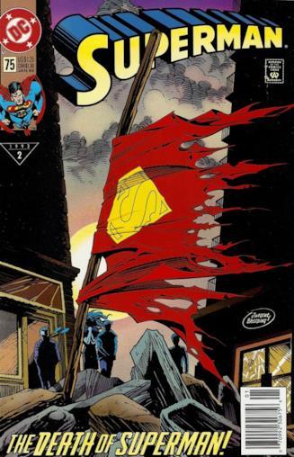 Copertina di Superman #75, del Gennaio 1993