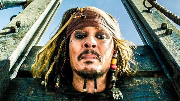 Jack Sparrow in una scena del nuovo Pirati dei Caraibi