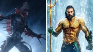 Un esemplare di Trench visto nel film Aquaman e Jason Momoa nei panni del supereroe DC Aquaman