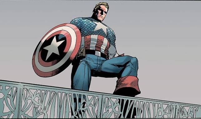 Capitan America osserva preoccupato il mondo sotto di lui