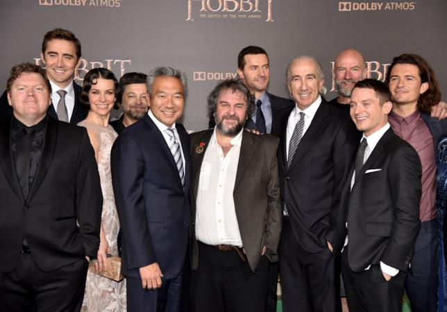Lo hobbit - La battaglia delle cinque armate, cast e Peter Jackson