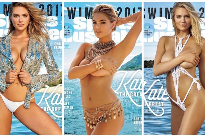 Kate Upton ha posato per ben tre cover di Sports Illustrated Swimsuit 2017