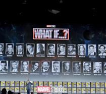 Il logo e gli attori della serie TV What If...? presentato al San Diego Comic-Con 2019