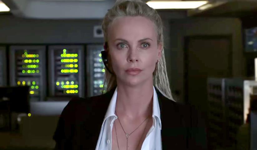 Un'immagine di Charlize Theron nei panni di Cipher in Fast & Furious 8