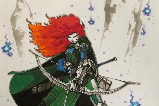 Principessa Merida in versione guerriera disegnata da Artemii Myasnikov.