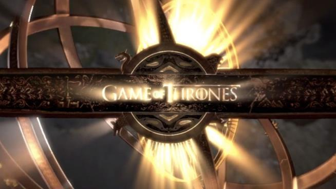 Fotogramma dalla sigla di Game of Thrones