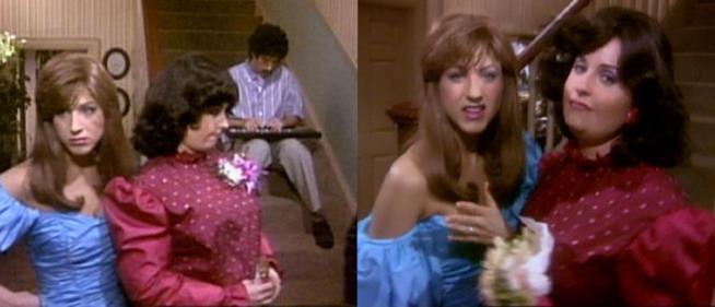 Monica, Ross e Rachel nell'episodio Come Due Aragoste