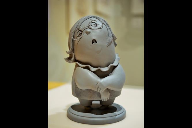 Tristezza, la scultura di uno dei personaggi di Inside Out di Pixar