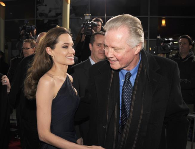 Angelina Jolie e il padre Jon Voight
