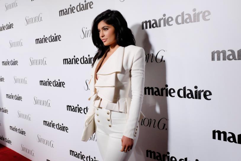 Jylie Jenner durante un evento patinato