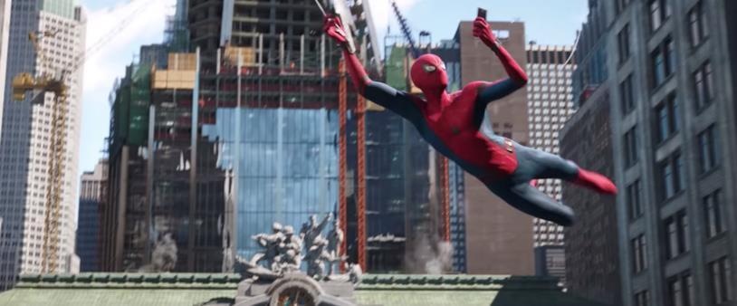 Spider-Man in una scena di Spider-Man: Far From Home