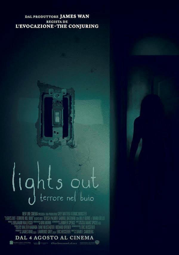 Il poster ufficiale di Lights Out -Terrore nel Buio