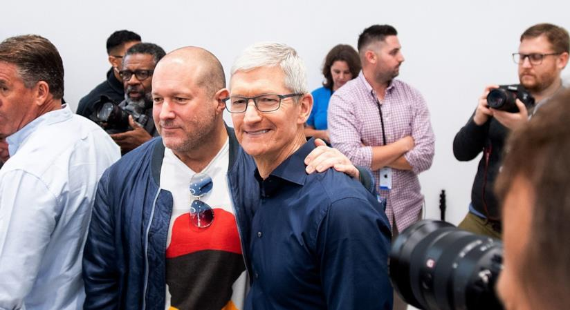 Tim Cook e Jony Ive ad un evento Apple