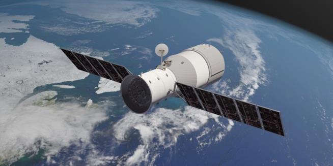 Rappresentazione grafica della stazione spaziale cinese Tiangong-1 (The Aerospace Corporation)