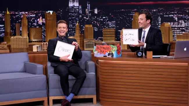 Justin Timberlake al The Tonight Show con Jimmy Fallon